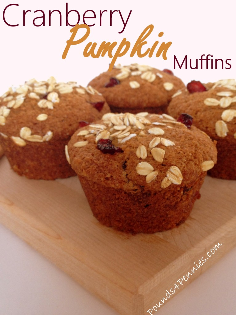 Cranberry Pumpkin Muffins With Oatmeal