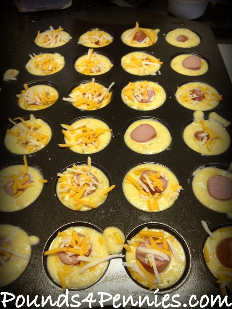 Cheesy Corn Dog Muffin pan