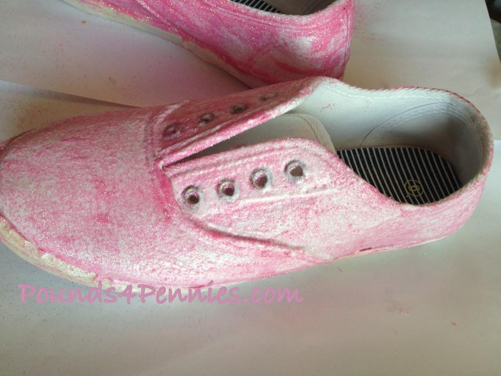 Glitter Shoes 1st Coat