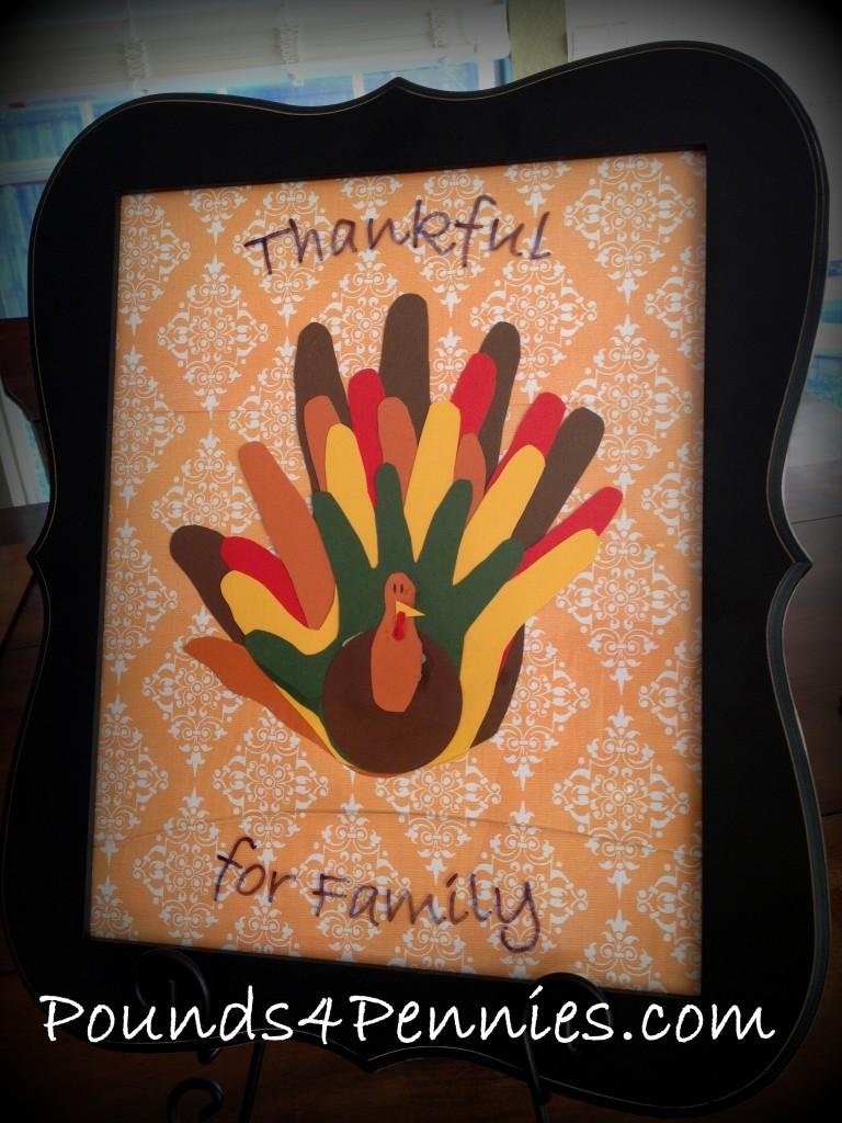 family hand turkey craft