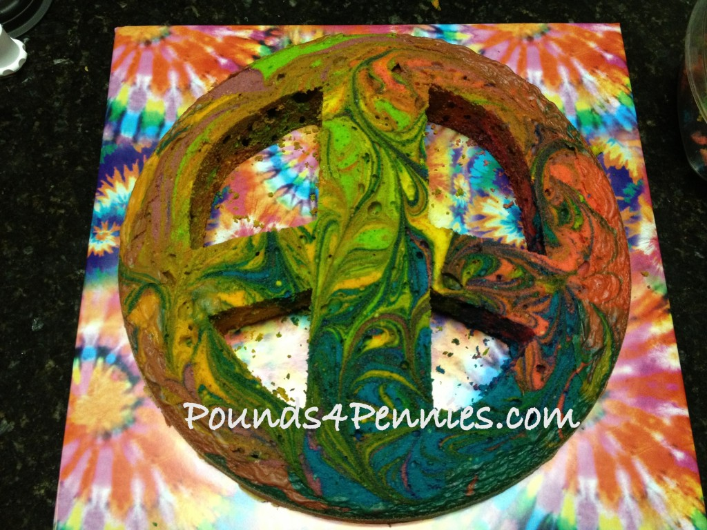 How to make Peace Sign cake
