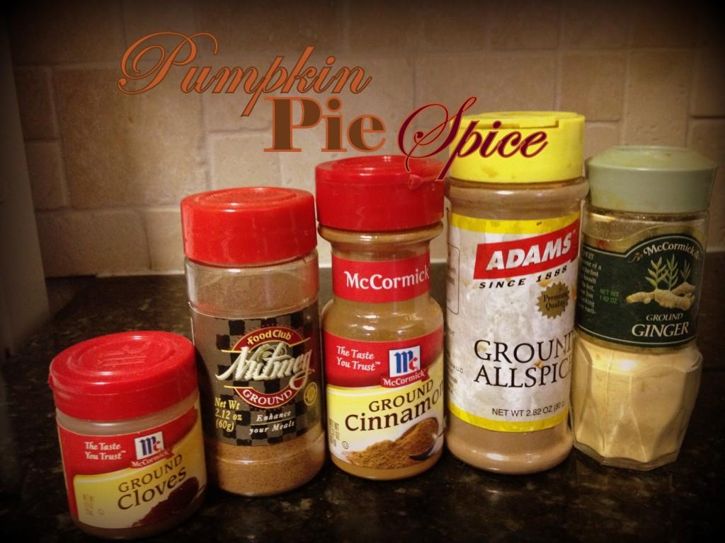 Ingredients for Pumpkin Pie Spice Mix: