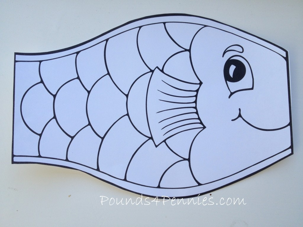 Japanese Flying Kite on Color By Shapes For Preschoolers