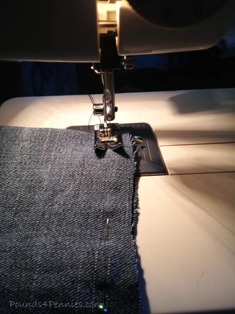 Sewing Jean Pant leg