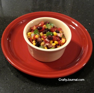 Crafty Journal - Corn and Black Bean Salsa Recipe