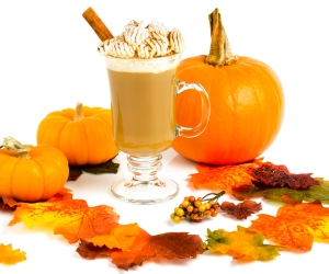 fall treats pumpkin latte