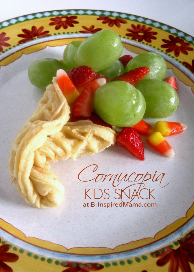 A Kids Thanksgiving Cornucopia Snack with Eggo Waffles at B-Inspired Mama