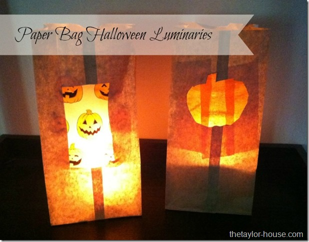 Paper Bag Halloween Luminaries thumb Halloween Craft