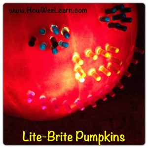 Lite Brite Pumpkin carving ideas for kids