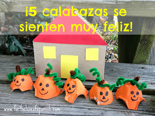 Learn Spanish Halloween craft ideas for kids