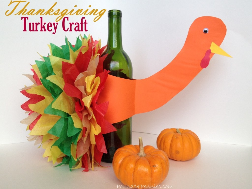 Easy wine bottle turkey craft idea thanksgiving