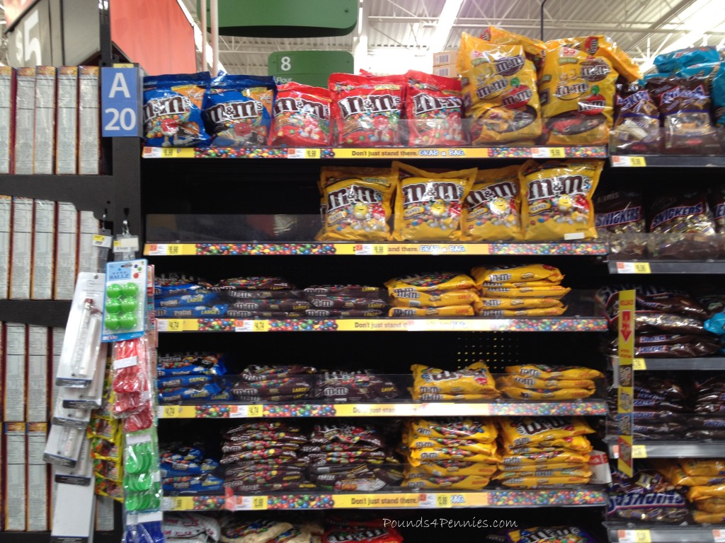 M&m's in Walmart Candy Aisle