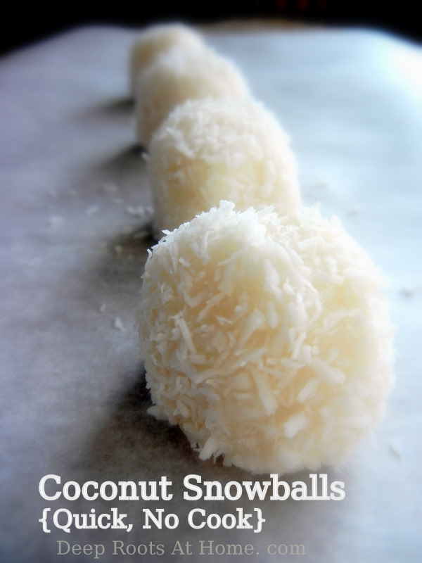 Coconut Snowballs brought to you by Deep Roots at Home