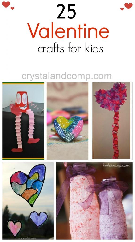 25 kid valentine day crafts