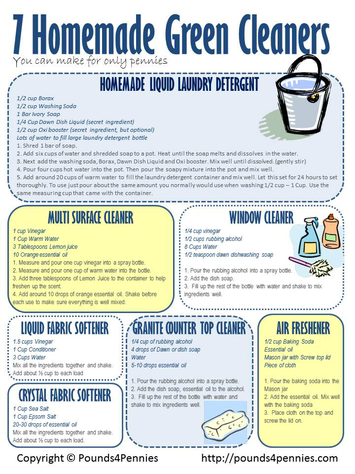 seven green cleaning products