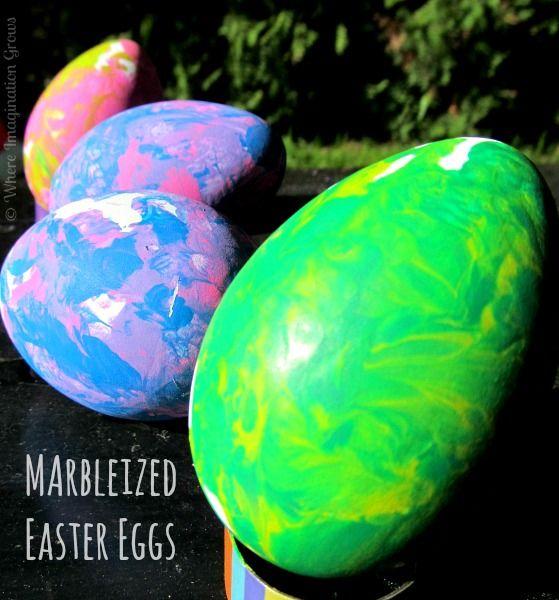 Marbleized Easter Eggs | Where Imagination Grows