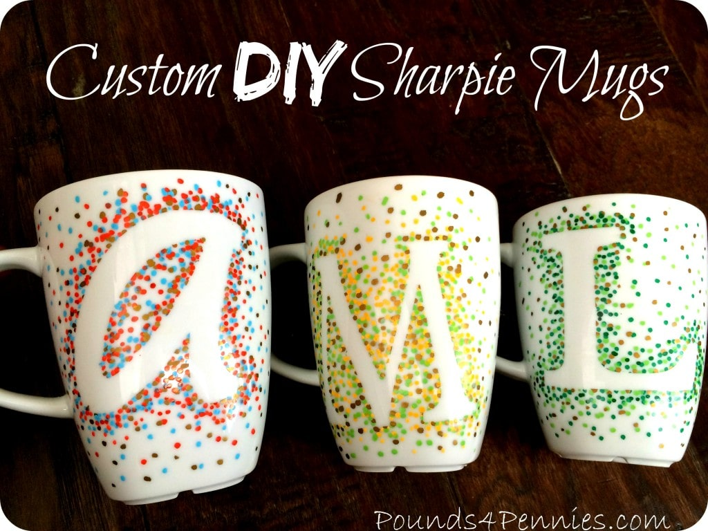 How to make custom sharpie mugs using a simple design for Handmade mug designs