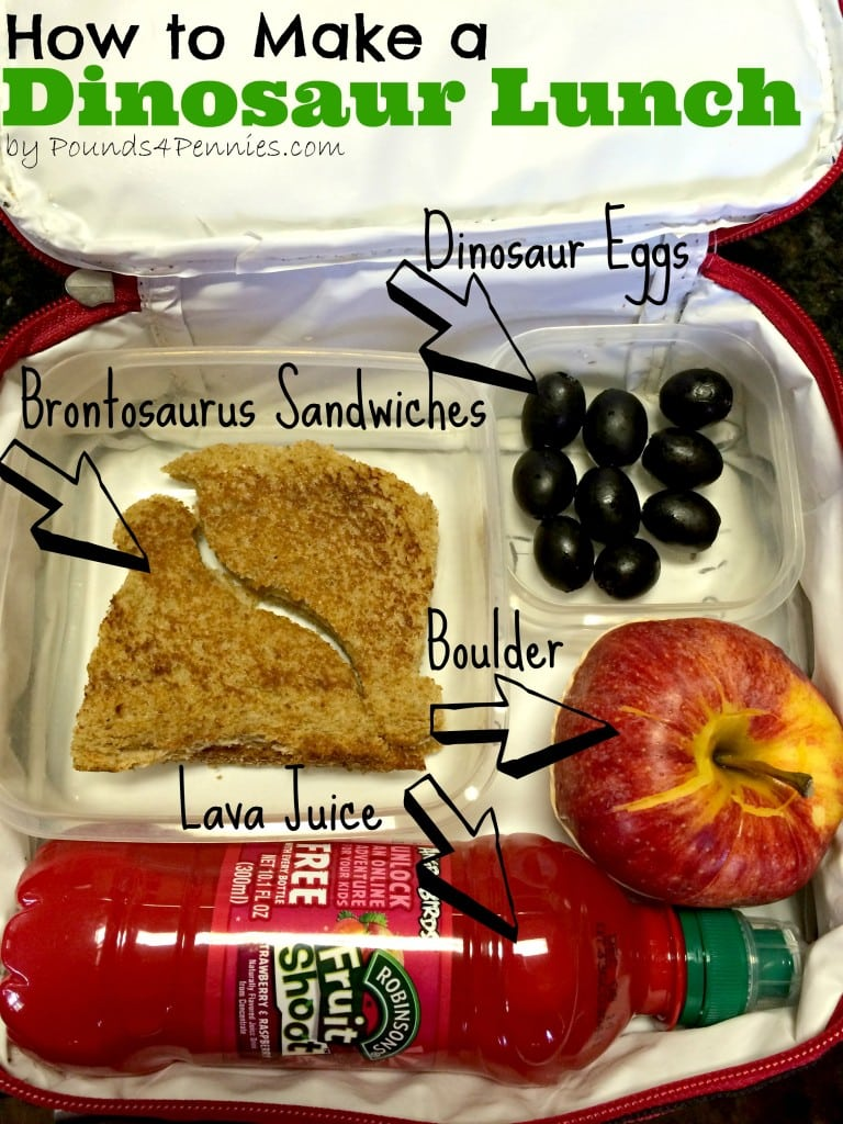 How to make a dinosaur lunch - Packing School Lunches for Kids