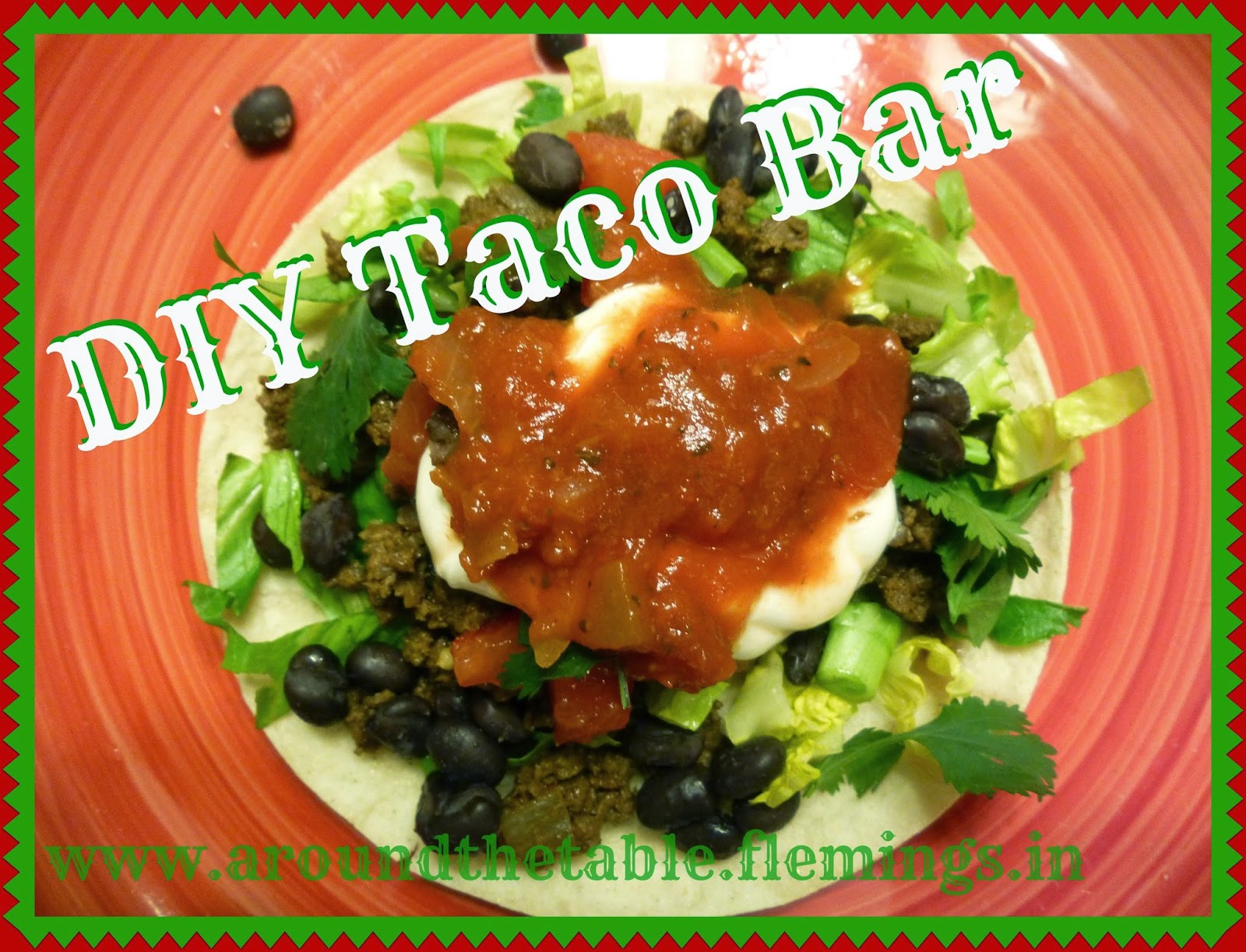 DIY Taco Bar for a quick healthy meal idea