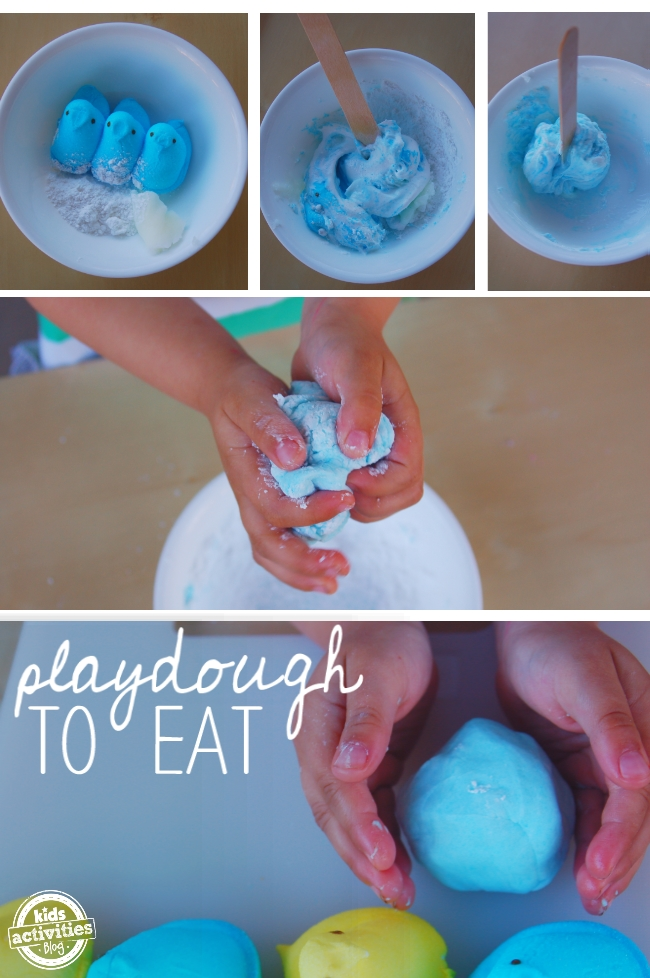 candy playdough you can eat. Peep Playdough