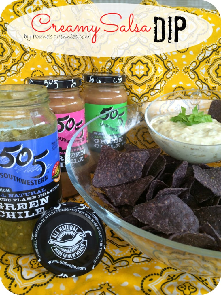The Best Creamy Salsa Dip with 505 SouthWest Green Chili Salsa