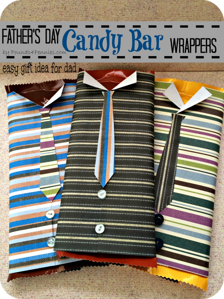 How to make a candy bar wrapppers father 39 s day gift for Easy craft gift ideas