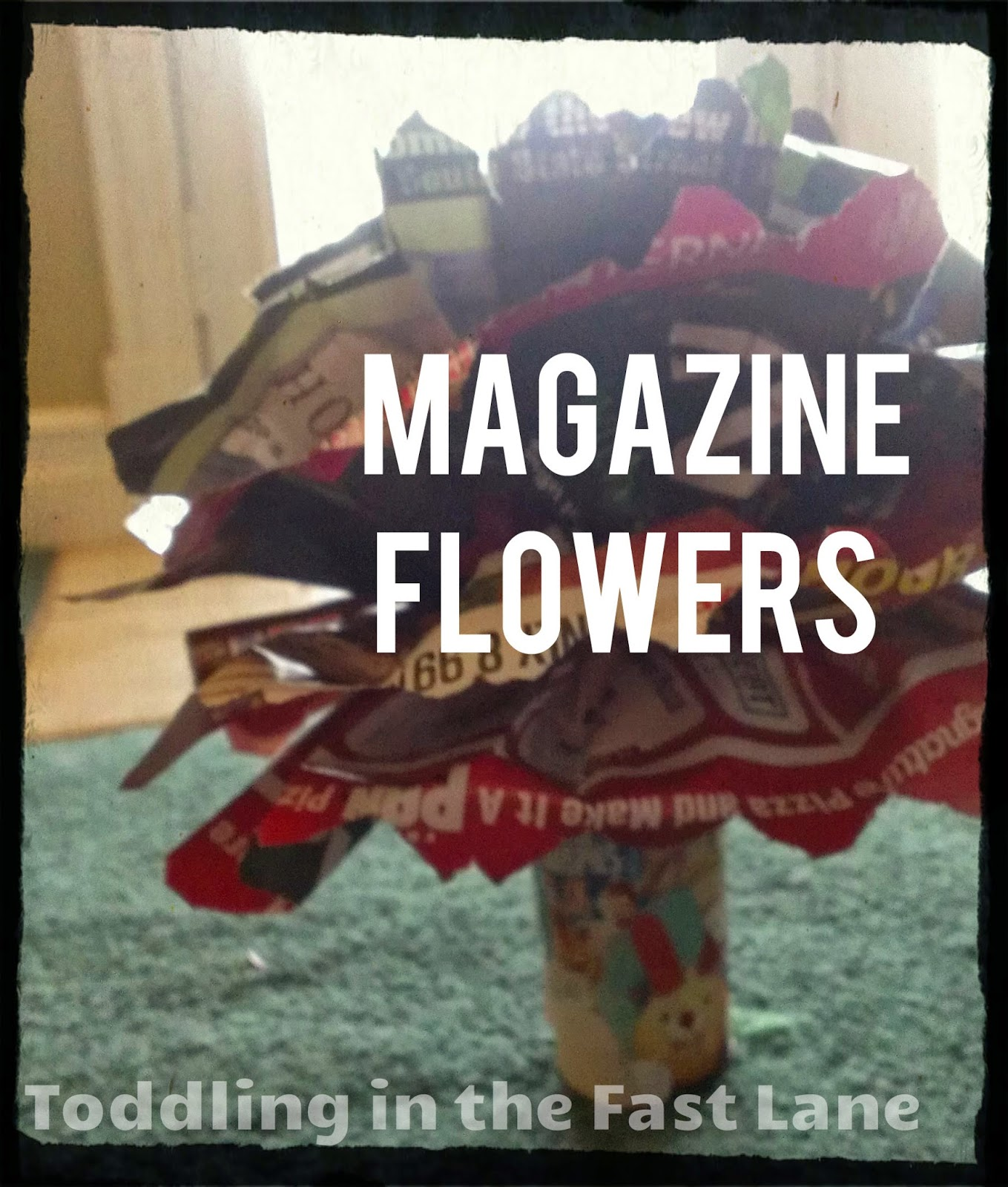 Flower Crafts and activities for kids how to make Magazine Flowers