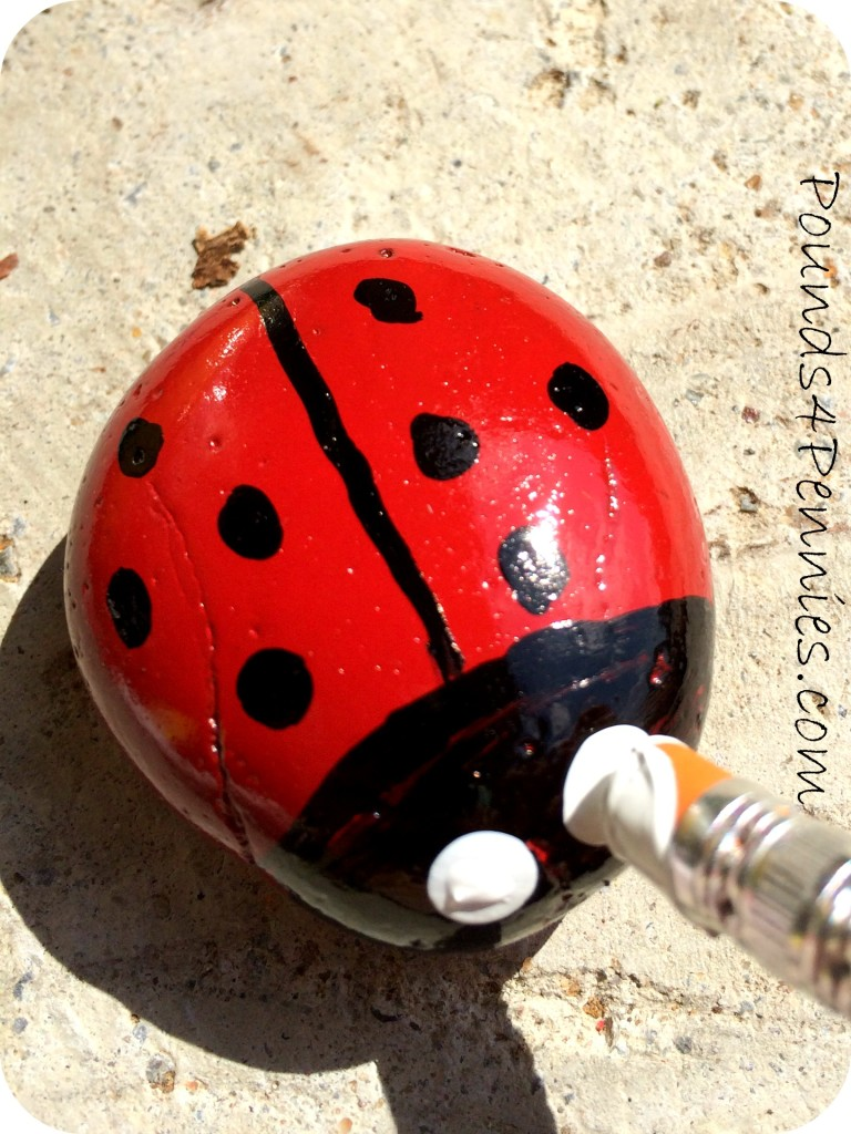 painted ladybug rocks add a whimsy make a painted ladybug garden rock 2597