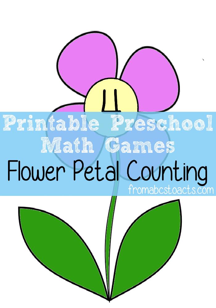 Preschool Math Games - Flower Petal Counting