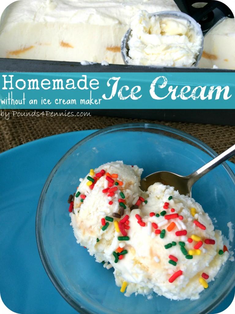 Homemade Ice Cream without Ice cream Maker