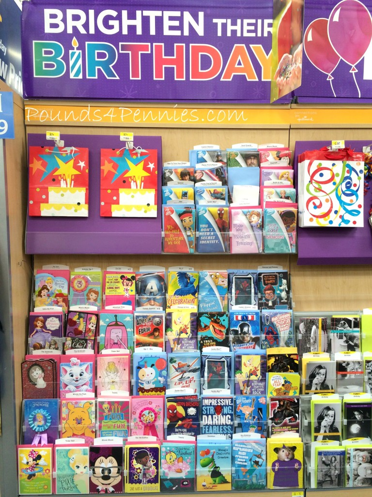 Hallmark birthday cards at Walmart