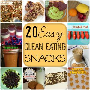 20 clean eating snacks