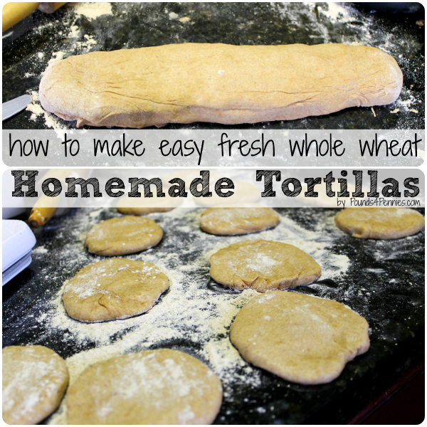 Fresh whole wheat tortillas recipe