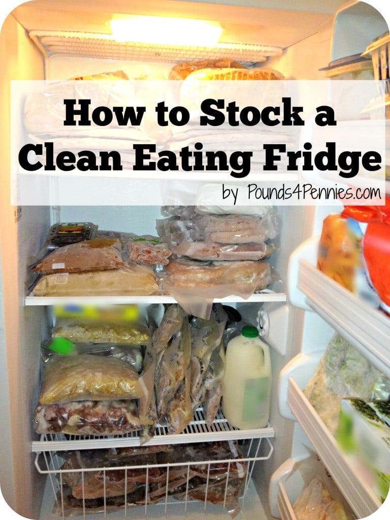 Stock a clean eating fridge