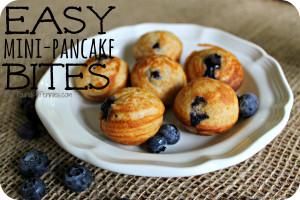 Easy Mini Pancake Bites