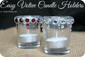 Easy Christmas Votive Craft