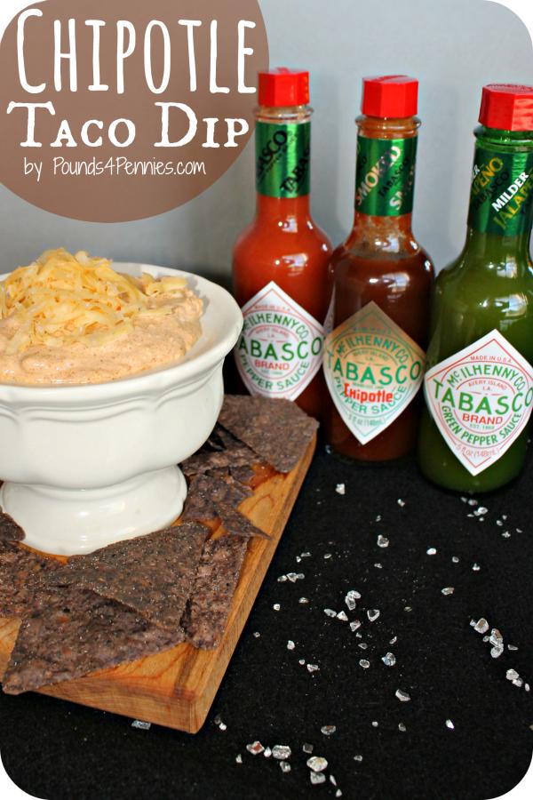 Easy chipotle Taco Dip