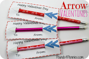 Easy Arrow Valentines day cards