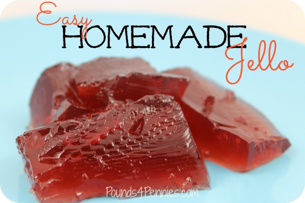 Easy Homemade Jello with juice