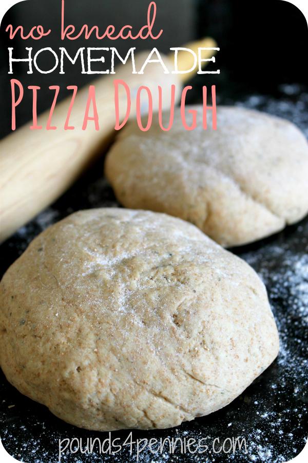 no knead homemade pizza dough