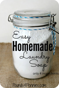 Easy DIY Homemade Laundry Soap Only 4 ingredients for this recipe!