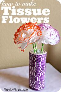 How to make Tissue Flowers Kleenex